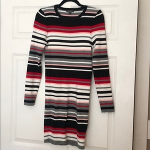Vici striped sweater dress